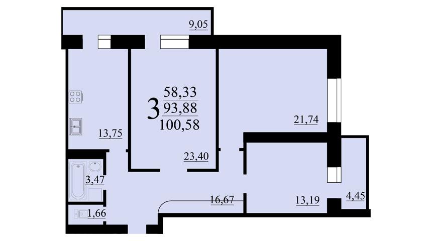 Схема квартиры.